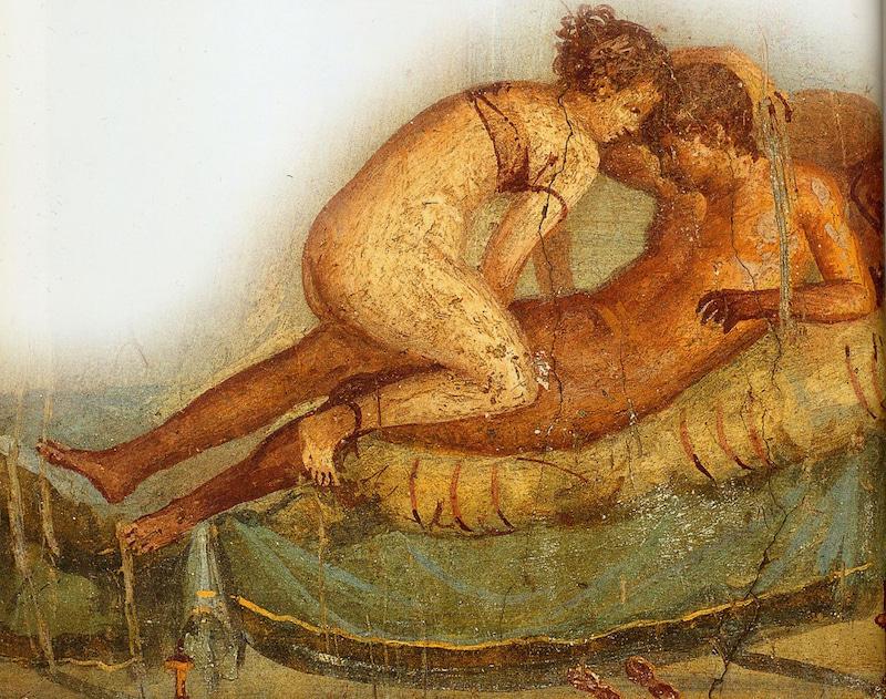 古代ポンペイのフラスコ壁画